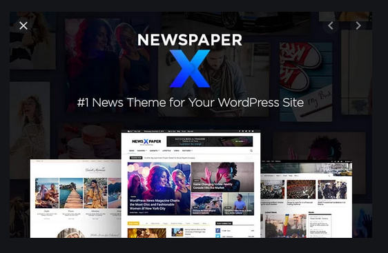 Newspaper X WebsiteTheme