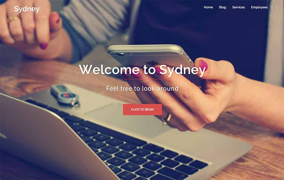Sydney Website Theme