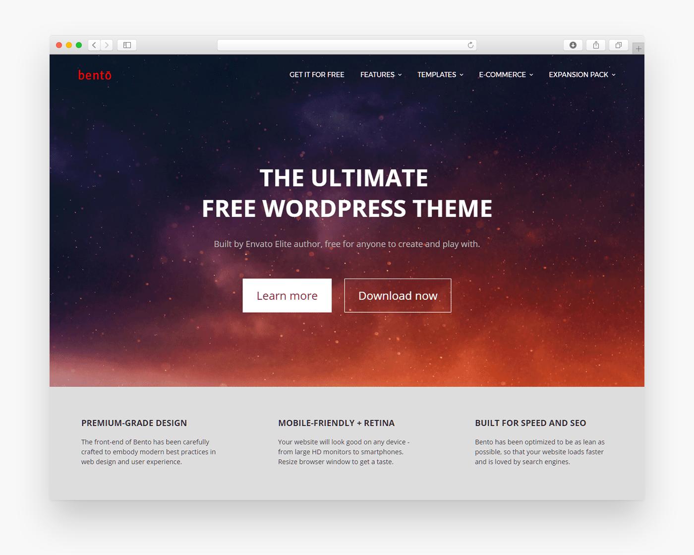 Bento WebsiteTheme